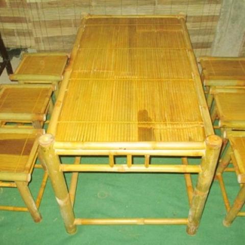 Bộ bàn ghế tre nhà hàng, quán cà phê NH02