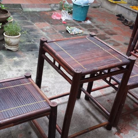 Bộ bàn ghế tre cafe CF01
