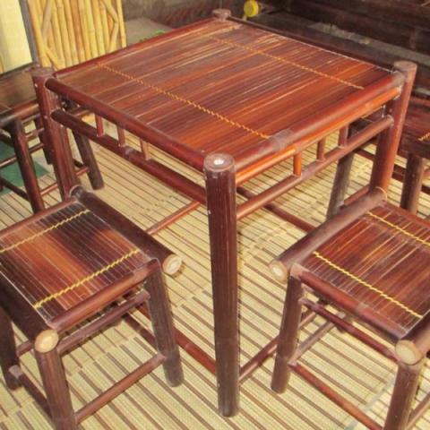 Bàn ghế tre trúc quán cà phê, nhà hàng CF01