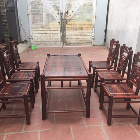 Bộ bàn ghế nhà hàng chữ Thọ 6 ghế NH01