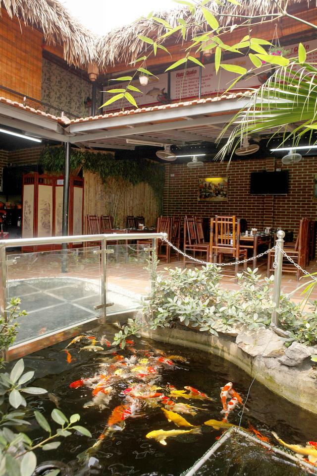 Không gian tre trúc gần gũi thiên nhiên tuyệt đẹp tại nhà hàng