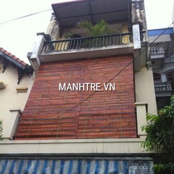Lắp đặt mành tre treo ban công nhà bác Lệ ở Hoàng Mai, Hà Nội
